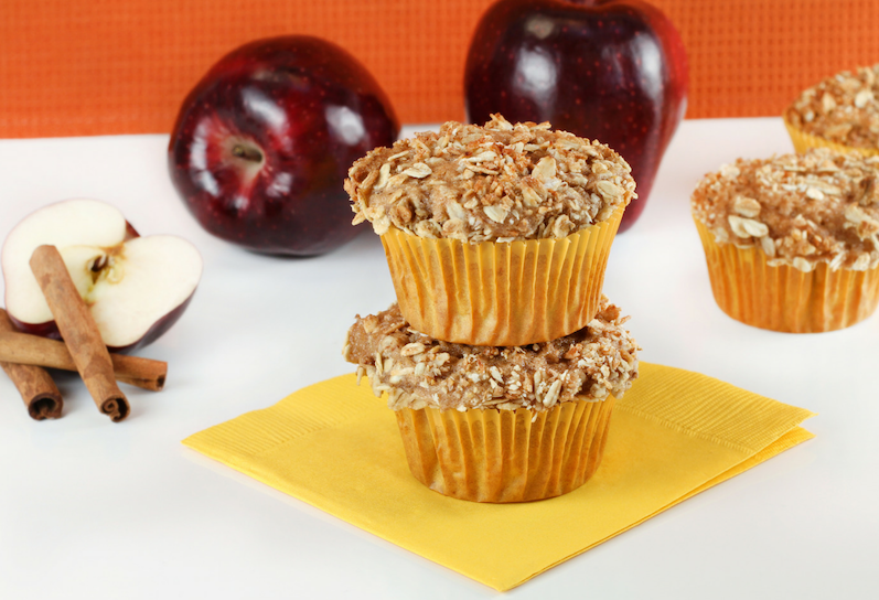 Apple and Oat Spiced Muffins