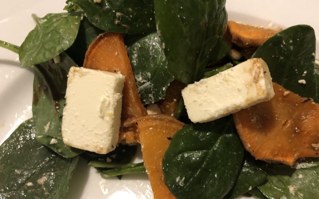Spinach and Sweet Potato Salad